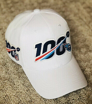 TENNESSEE TITANS Cap Hat 2019 Patch Style 100th Season Anniversary 100 Playoffs