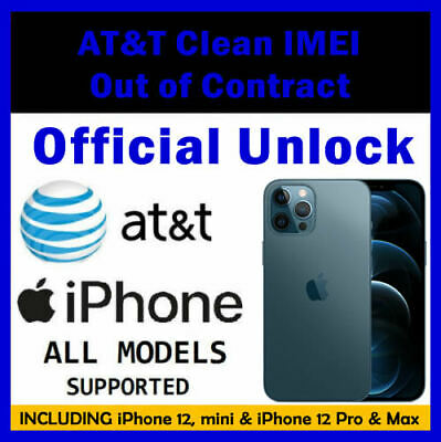 AT&T USA - Unlock Official Service IPhone 11 Pro Max, 11 Pro, 11 Xs Max, XS Xr X