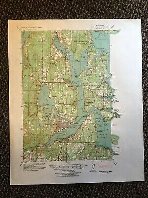 Vintage USGS Port Orchard Washington 1940 Topographic Map 1