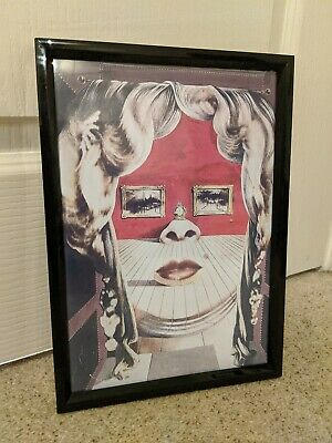 Salvador Dali Face of Mae West Which May Be Used as Art - A4 Print