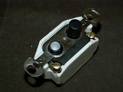 Antique Refurbished Pushbutton Light Switch