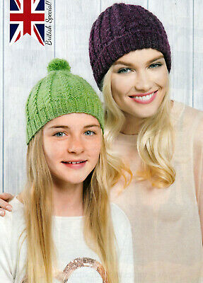 HS23 KNITTING PATTERN FOR HAT /& SCARF /& GLOVES ADULT