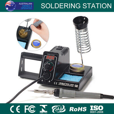 New 60W Soldering Iron Solder Rework Station Variable Temperature LED Display