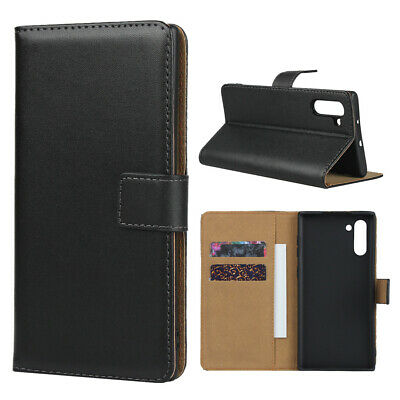 For Samsung Galaxy Note 10 Plus 9 8 FE Genuine Flip Leather Wallet Case Cover