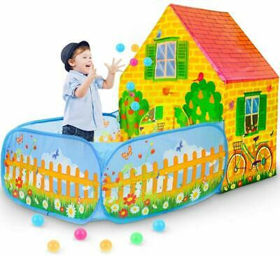 Kids Play Tent,Pop Up Playhouse with Ball Pit, Indoor/Outdoor Play Garden House