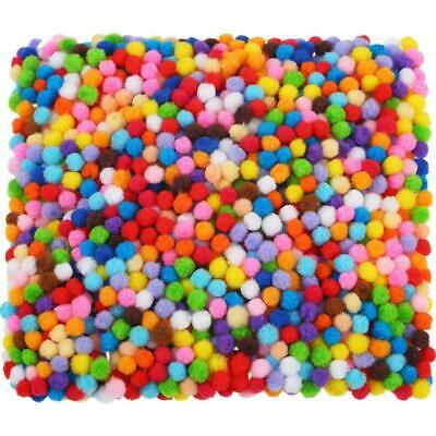 2000 Pieces 6 mm Pom Poms for Craft Making, Hobby Supplies and Multicolored