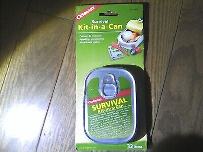 Coghlan's Survival Kit-In-A-Can 32-Piece Emergency Kit w/Waterproof Matches