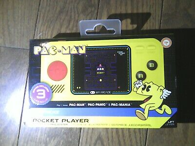 New My Arcade Pac-Man Pocket player Portable Gaming System 3 Games