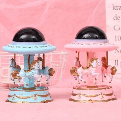 Cute Music Box Large Rotating Musical Box with Colorful Projection Light Plastic