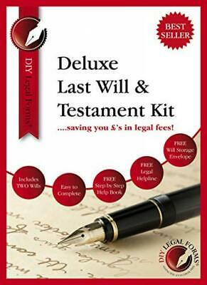 Last Will and Testament Kit 2019-20 UK, DELUXE Edition, Suitable for up to...