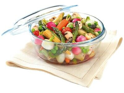 """Pyrex Glass Casserole dish with Lid 2.1l 20.5cm/8"""" Borosilicate Thermal"""