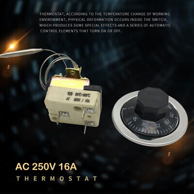 1pc Temperature Controller Thermostat TS-300S 50~300℃ 3P 16A 250VAC 22A125VAC