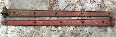 Pair Of Charles Collinge Cast Iron Agricultural Farm Door Gate Hinges 130cm