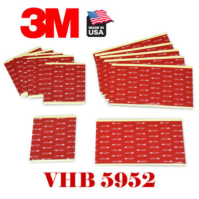 """3M #5952 VHB 4"""" x 4""""In  (100mm x 100mm) Double Sided Foam Adhesive Tape Mounting"""
