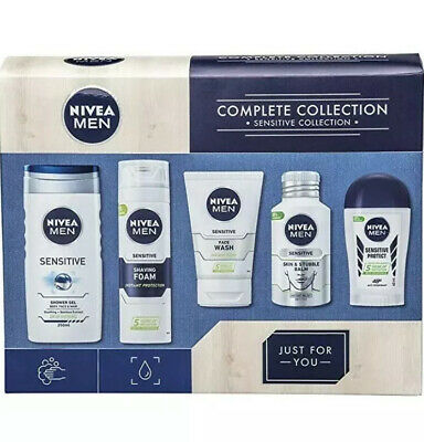 Nivea Men Complete Sensitive Collection Gift Set 5 Full Size Items New