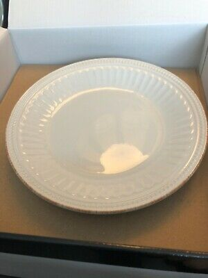"""(#1) LENOX FRENCH PERLE GROOVE WHITE ACCENT PLATE 9"""" -0701H Brand New"""