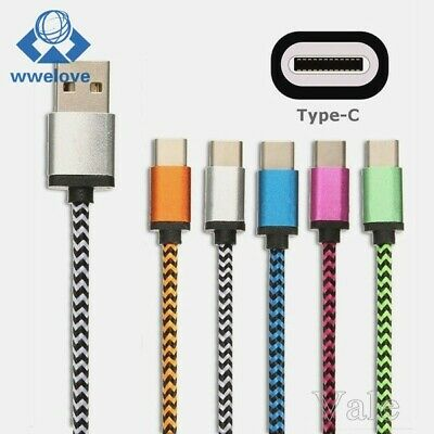 SUPER Strong Braided Nylon FAST USB C 3.0 Type C Data Sync CHARGING Cable METER