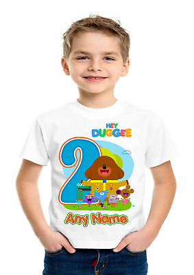 Boys Girls Hey Duggee Birthday Personalised t-shirt Any name,number