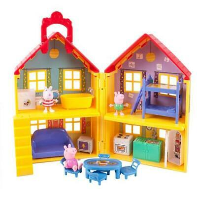 Peppa Pig House Playset Toddler Toy Pretend Gift Figure 15+ Piece Girl Boy New
