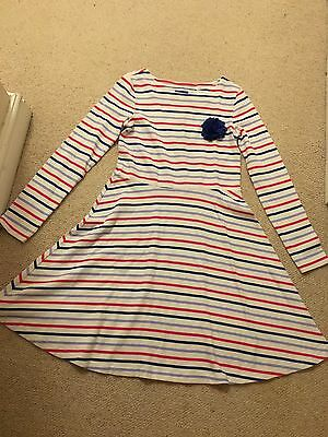 New Joules Girl's Ellie Striped Dress - Age 9-10 Years