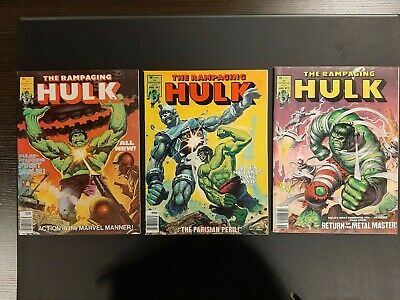 Rampaging Hulk Magazine 1 to 3 in High Grade