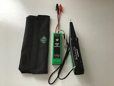 Greenlee Tone Generator And Probe 45081 And 45082 With Bag And Batteries