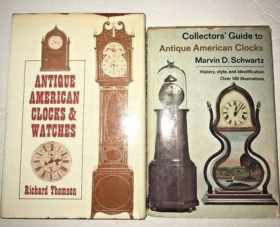 Set of Two Books-Collectors' guide to antique American clocks & Watches
