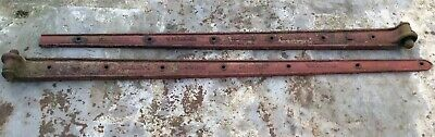 Pair Of Charles Collinge Cast Iron Agricultural Farm Door Gate Hinges 191cm