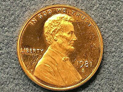 FREE SHIPPING 1981 P Lincoln Cent  In Mint Cello