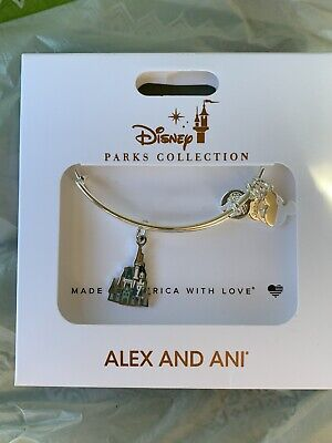 Alex And Ani Walt Disney World 2020 Cinderella Castle Silver bracelet Bangle