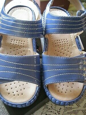 Cushion Walk Ladies leather lined Blue