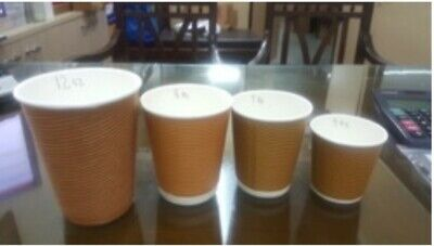 12oz Disposable Paper COFFEE/TEA CUPS & SIP LIDS Catering-Takeaway