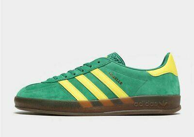 BNWB /& Genuine adidas originals ® Spezial Bold Green Suede Trainers UK Size 9.5