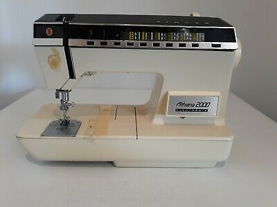 Vtg SINGER ATHENA 2000 Electronic Embroidery Sewing Machine *UNTESTED""