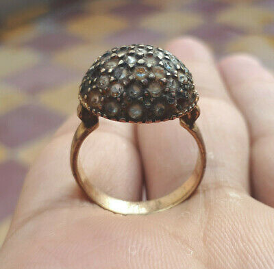 Very Rare Ancient bronze Decorated Ring authentic copper Museum Quality Artifact