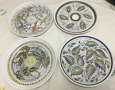 Four Of Denby Glyn Ware Plates, 10.5 '' Inch Dinner Plates Glyn Colledge