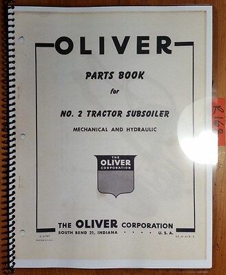 1960 Oliver Operating /& Setting Up Inst./& Parts Book For #4240 Ser.Plow 2-3 Btm.