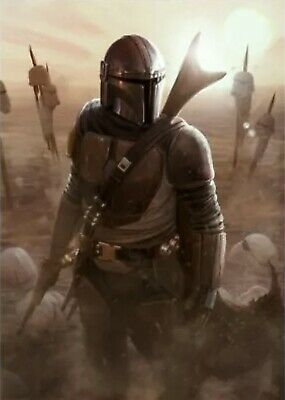Star Wars:The Mandalorian 'The Calm After' Lithograph Limited To 183/250 Disney+