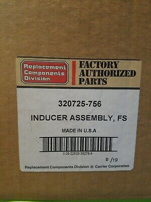 OEM Carrier Bryant Payne Furnace Inducer Exhaust Motor 320725756 320725-756