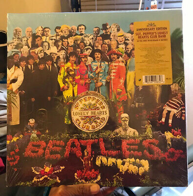 Beatles Sgt. Pepper's Lonely Hearts Club Band 2 LP Vinyl 50th Anniversary 2017