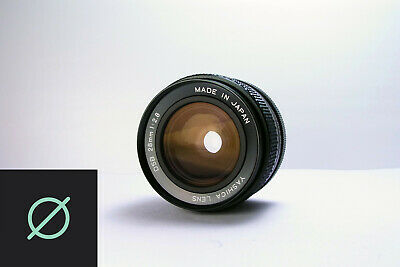 Yashica DSB 28mm f2.8 Contax Yashica Mount CY w/ Filter + Rear Cap *Excellent*