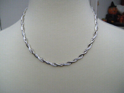 Beautiful Sterling Necklace And Bracelet Set Channel Set CZ's WILL NOT TARNISH
