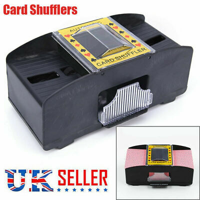 Automatic Card Shuffler Deck Casino Playing Cards Sorter Poker Games Machine UK
