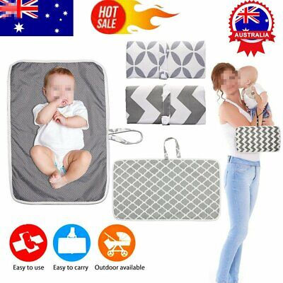 Baby Waterproof  Foldable Washable Travel Nappy Diaper Play Changing Mat AU
