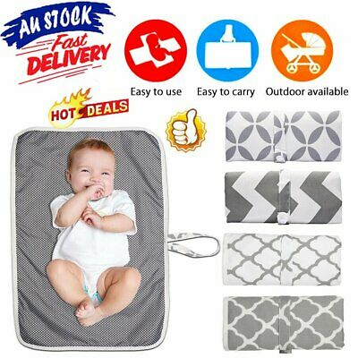 Newborn Baby Portable Foldable Washable Travel Nappy Diaper Play Changing Mat FR