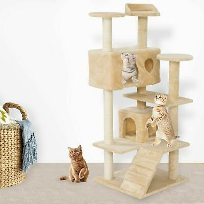 """New52"""" Cat Tree Tower Condo Furniture Scratching Post Pet Kitty Play House Beige"""