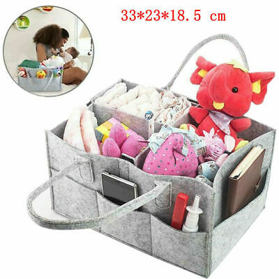 Baby Diaper Container Organizer Caddy Felt Changing  Kids Storage Carrier Bag UK