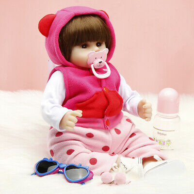 19 inchs Reborn Dolls Real Baby Doll Realistic Silicone Handmade Gifts Girl Doll
