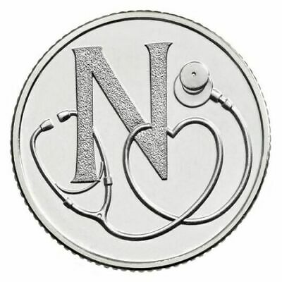 A-Z 10p Alphabet COIN  LETTER N   **NHS NATIONAL HEALTH SERVICE ** 2019