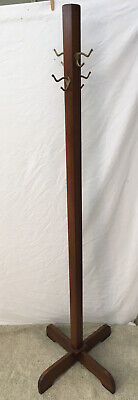 antique Vtg Coat Rack Hall Tree hook hat mission style